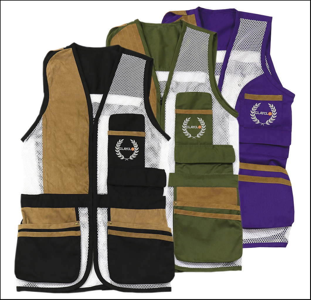Mesh Skeet Vests - Our Mesh Skeet Vests are available in both ladies and gent's styles, right and left handed options and available in a stylish range of colours.The Clayclo Mesh Vest has proved extremely popular in all shooting disciplines. Developed with real feedback from real shooters, we believe no other vest offers such quality at such value for money.Browse our entire range by clicking on the shop link above.