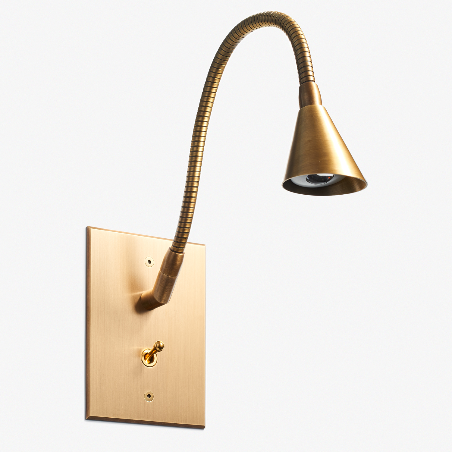 82 x 117 - Tulipe Reading Lamp - Beveled Cone - Bronze Médaille Clair Vernis Mat.jpg