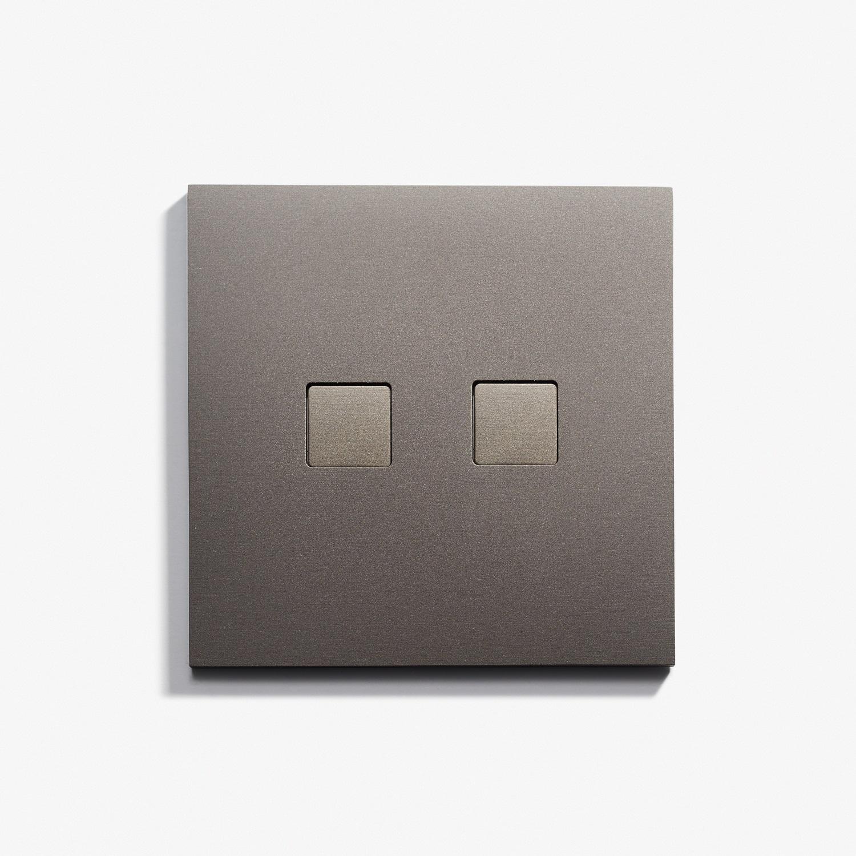 82 x 82 - 2 BP Damier (Flush) - Hidden Screws - Straight Edge - Microbillé Canon de Fusil Anthracite 2.jpg