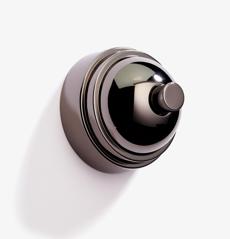 Doorbell - Dome - 1 BP 12V - Nickel Noire Brillant 2.jpg
