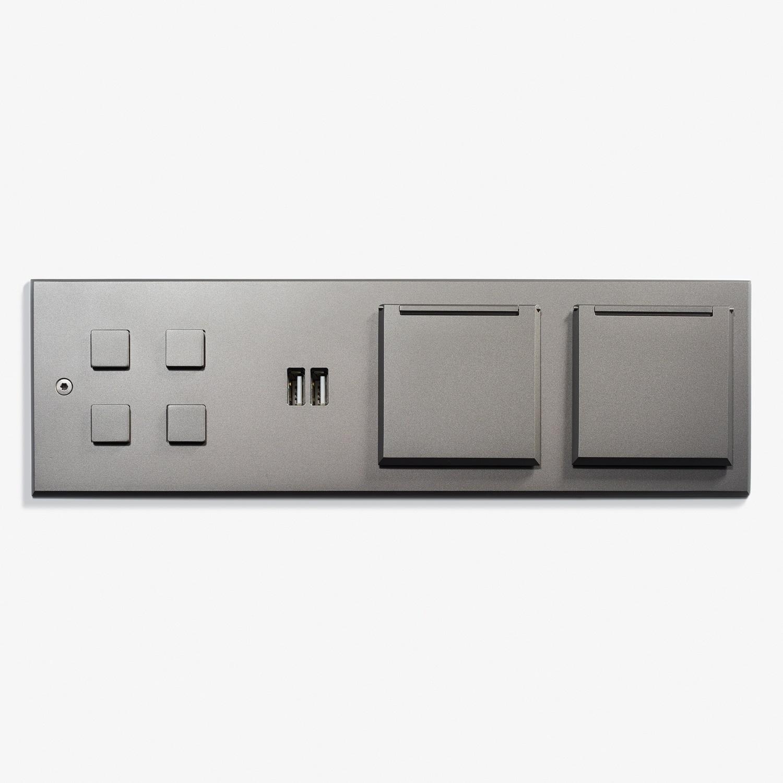 269 x 82 - Custom Headboard Plate - Microbillé Canon de Fusil Anthracite 1.jpg