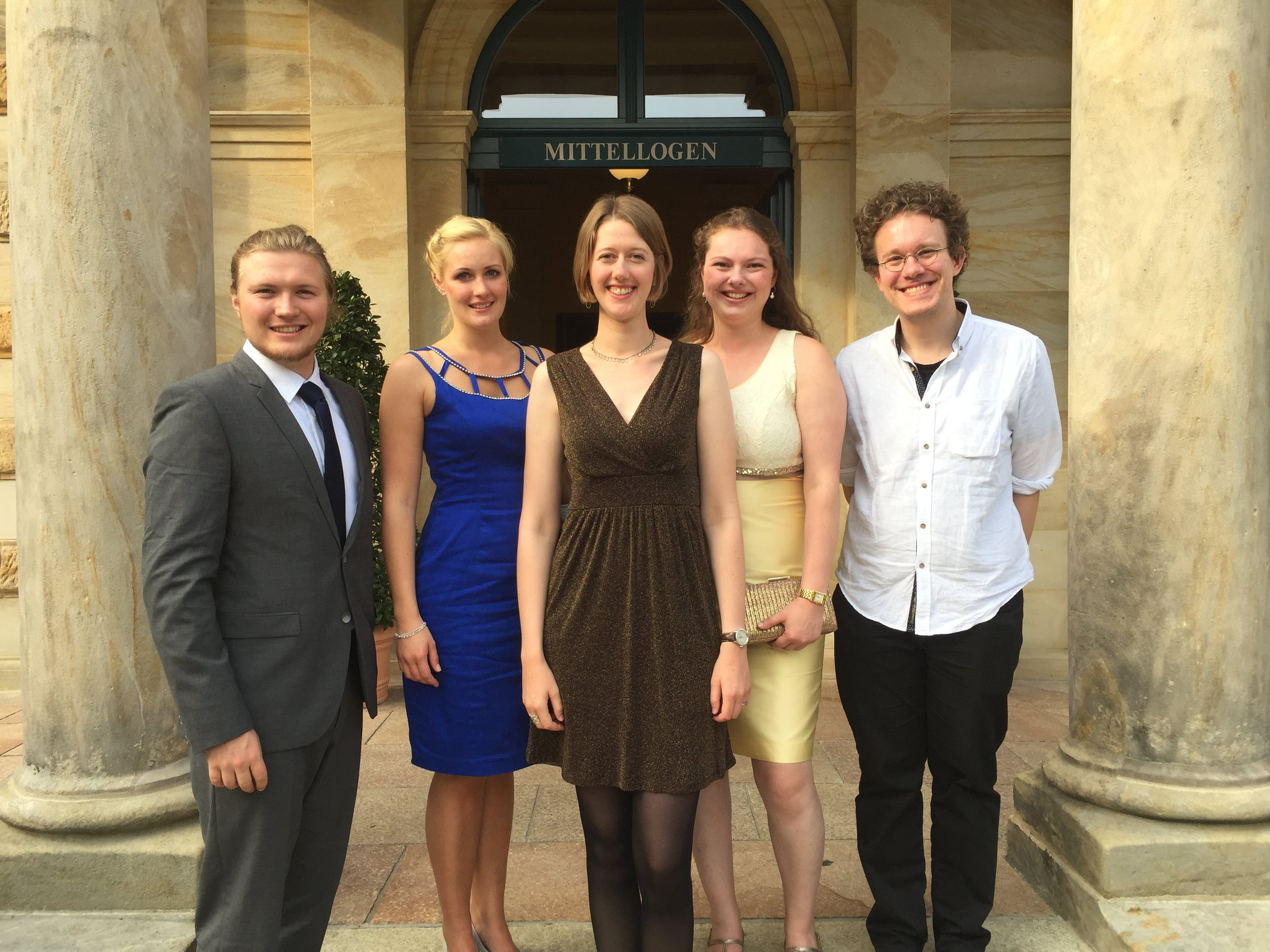 Von links nach rechts: Matthias Hoffmann, Katharina Borsch, Lina Hoffmann, Anna Lautwein, Jakob Cizmarovic