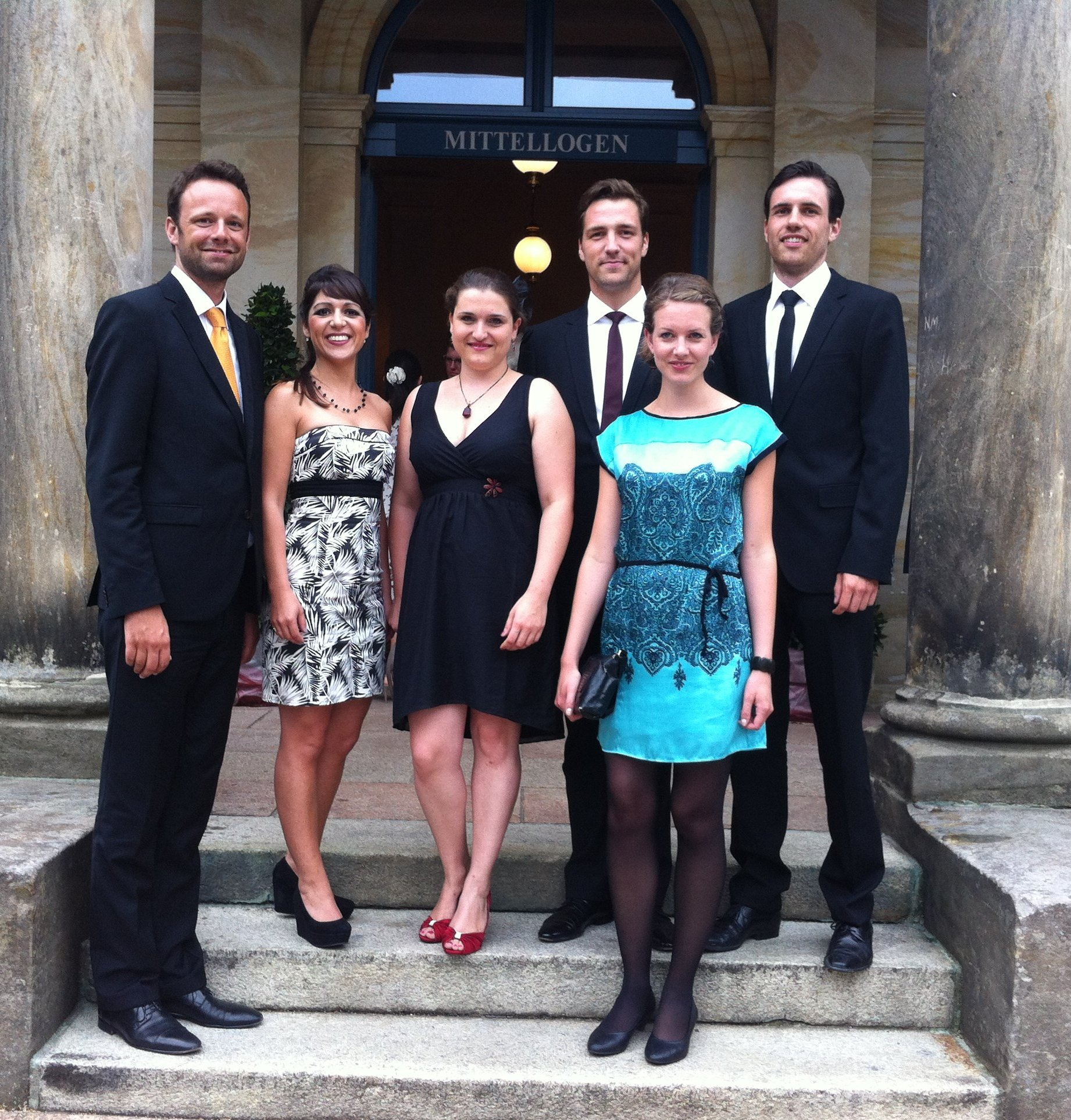 Von links nach rechts: Lucas Singer, Vivian Guerra, Sofia Pavone, Christian Henneberg, Sarah Schnier, Jan-Paul Reinke