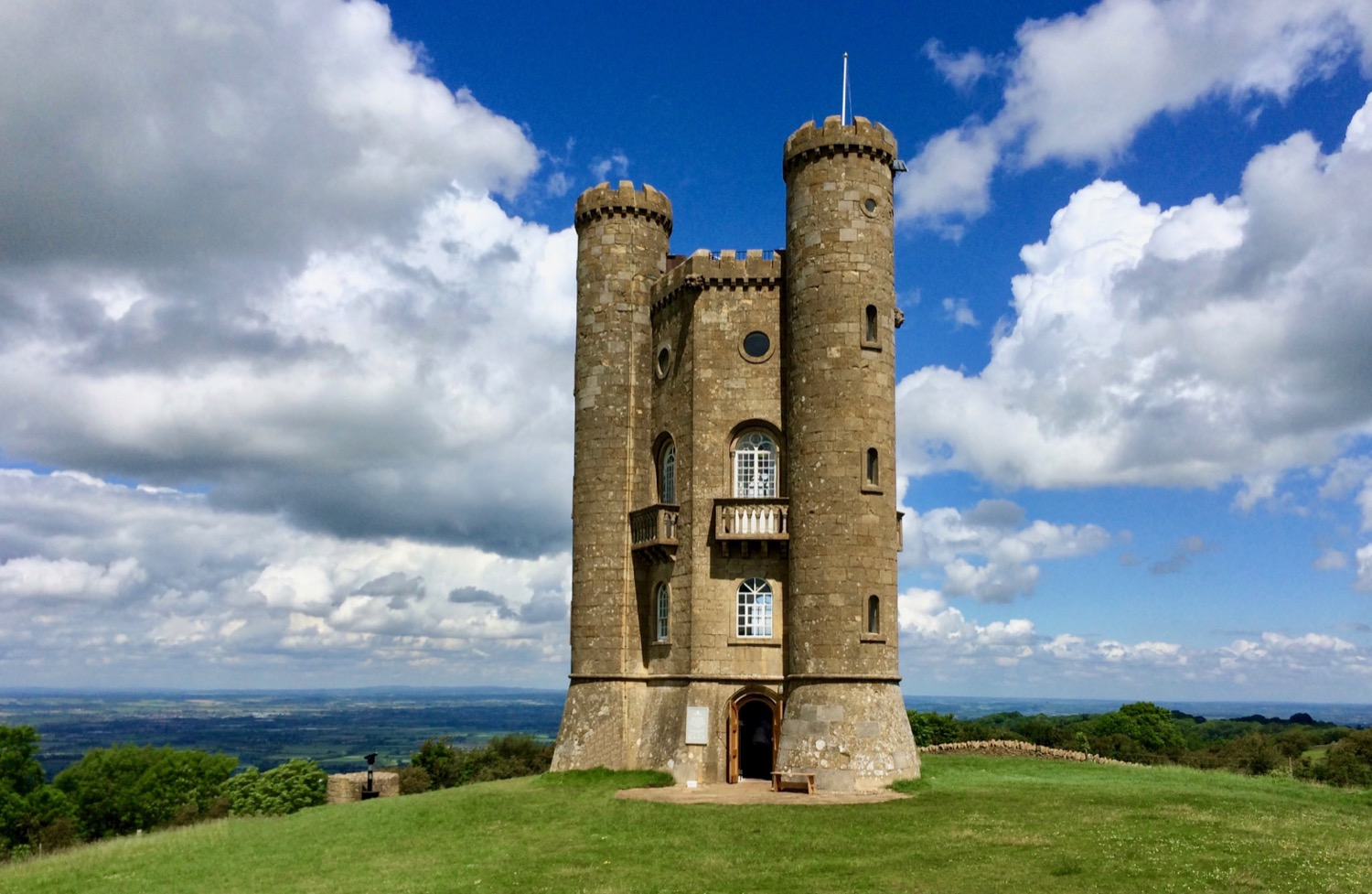 Broadway Tower, a few miles from where Kirk lives.