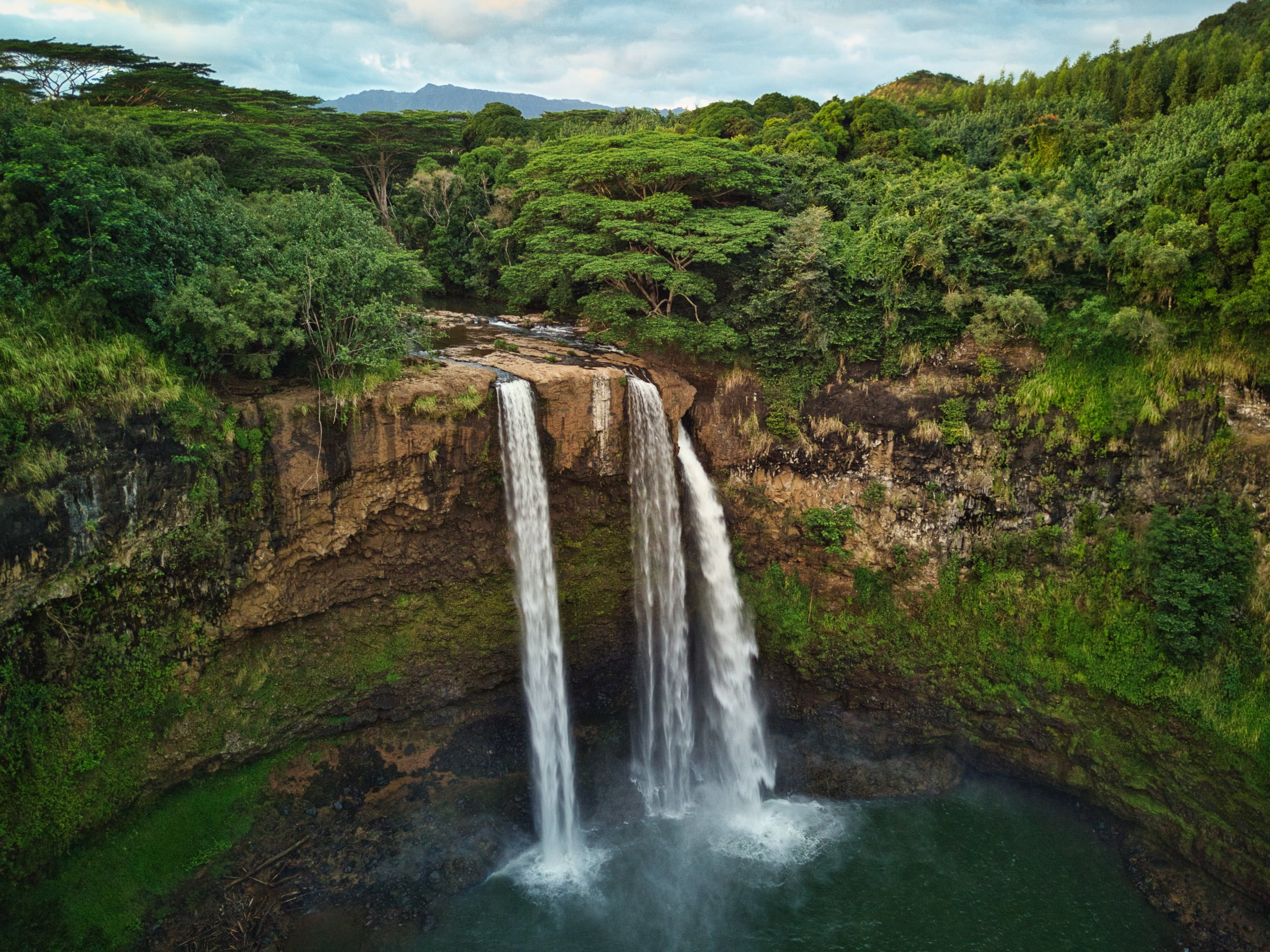 Wailua Falls  Camera: DJI Mavic Pro Shutter speed: 1/25 sec Aperture: f/2.2 ISO: 177 Photo: Jeff Carlson