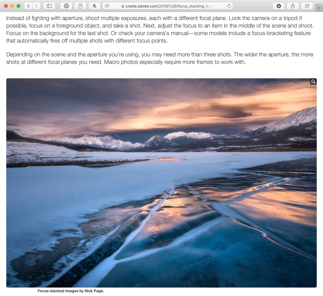 Nick Page's photo from Jeff's article in Adobe Create Magazine.