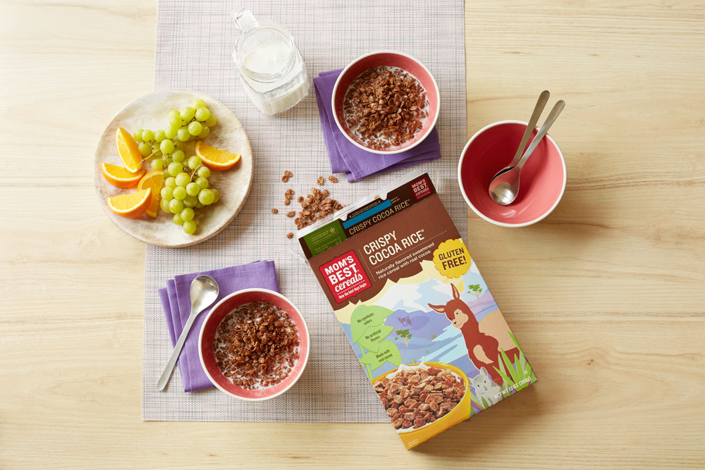 Mom's Best Crispy Cocoa Rice Cereal made without artificial colors, ingredients or high-fructose corn syrup | Didn't I Just Feed You podcast [sponsor]
