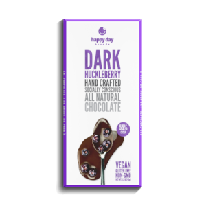 Happy Day Brands Dark Chocolate Huckleberry Bar | Didn't I Just Feed You podcast