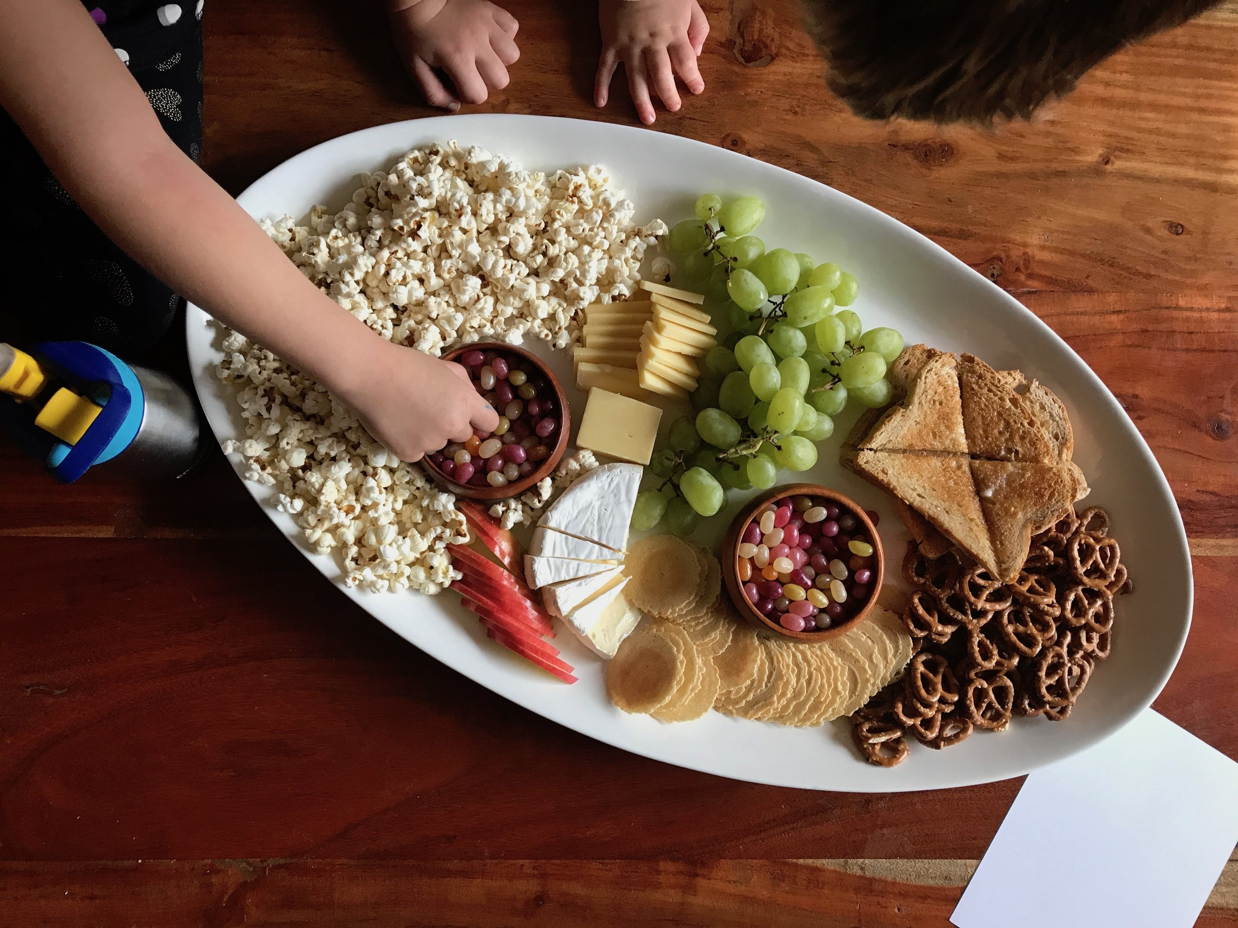 Charlie Brown Snack Platter Thanksgiving with Kids Ideas | Didn't I just Feed You Podcast