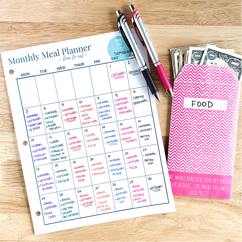 Monthly Meal Planner at The Budget Mom   featured at Didn't I Just Feed you family food podcast