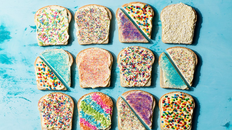 Fairy bread! A great easy idea that can be adapted for a classroom party or holiday-themed school lunch: photo by Chelsea Kyle for Epicurious | Featured at Didn't I Just Feed You, a food podcast for parents