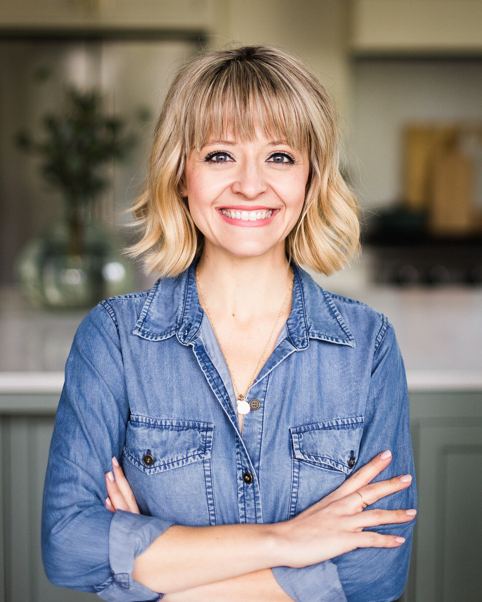 Kelsey Nixon talking dinner shortcuts on Didn't I Just Feed You, a food podcast for parents (even the ones who hate to cook!)