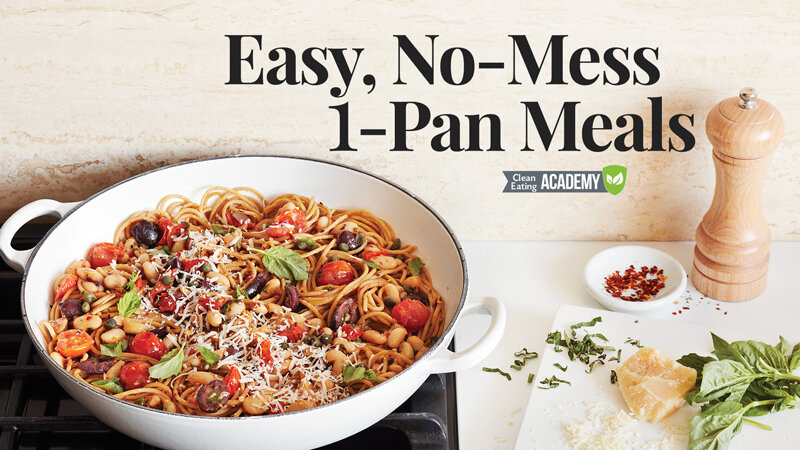 Easy, No-Mess, One-Pan Meals: A class with Beth Lipton from  the Clean Eating Academy by Clean Eating Magazine | Didn't I Just Feed You, a food podcast for parents (even the ones who hate to cook)