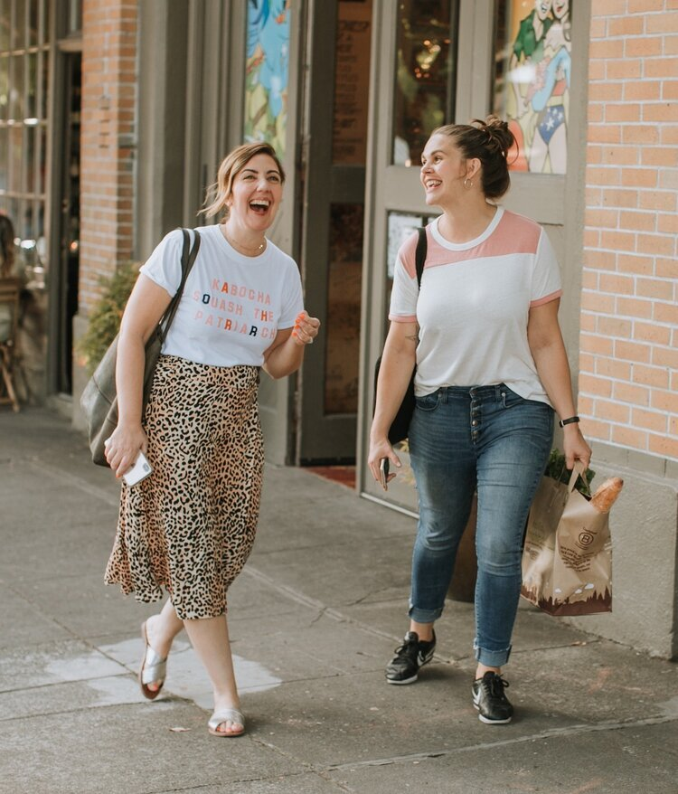 Stacie & Meghan of Didn't I Just Feed You, a food podcast for parents (even ones