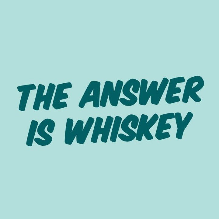 Join us in the Didn't I Just Feed You Listener's Group on Facebook: The answer is (you guessed it!), whiskey!