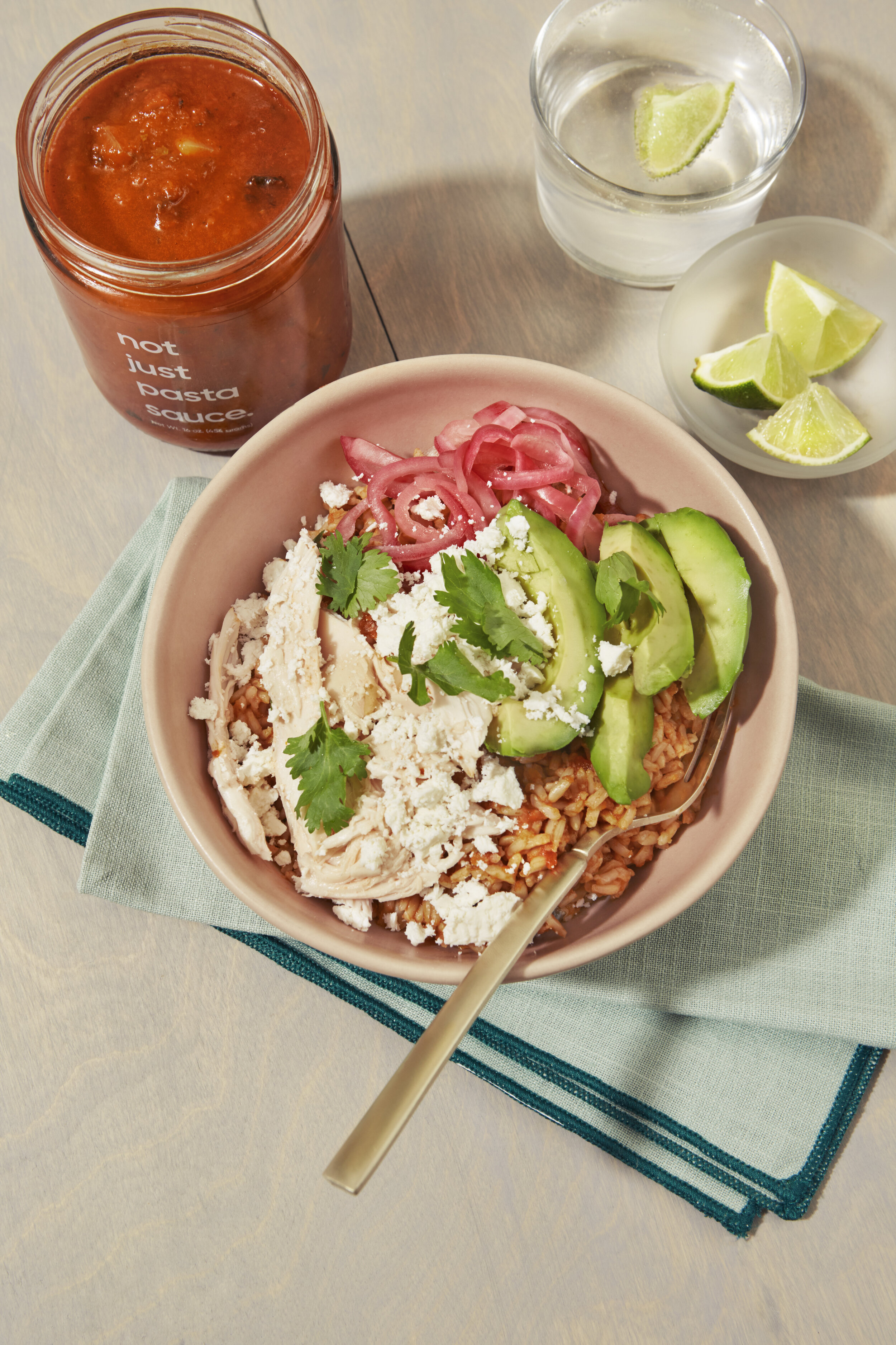 Chipotle Chicken Burrito Bowls using Not Just sauce! | Didn't I Just Feed You [sponsored]