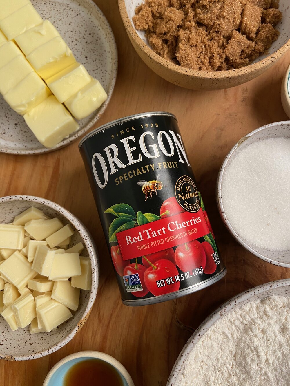 Our holiday baking secret? Oregon Fruit! Non-GMO fruit and berries packed without high-fructose corn syrup in non BPA cans.   Didn't I Just Feed You