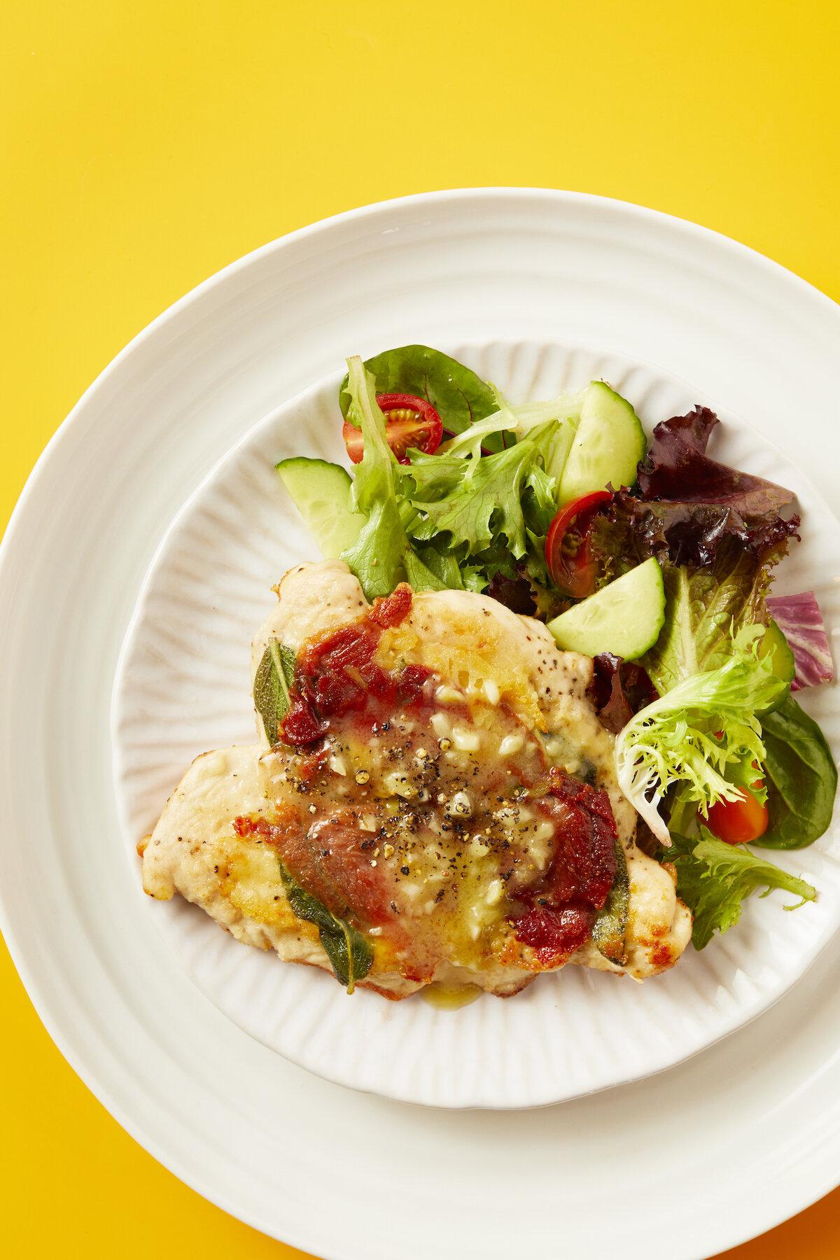 Chicken Saltimbocca from Winner! Winner! Chicken Dinner by Stacie Billis | Didn't I Just Feed You podcast