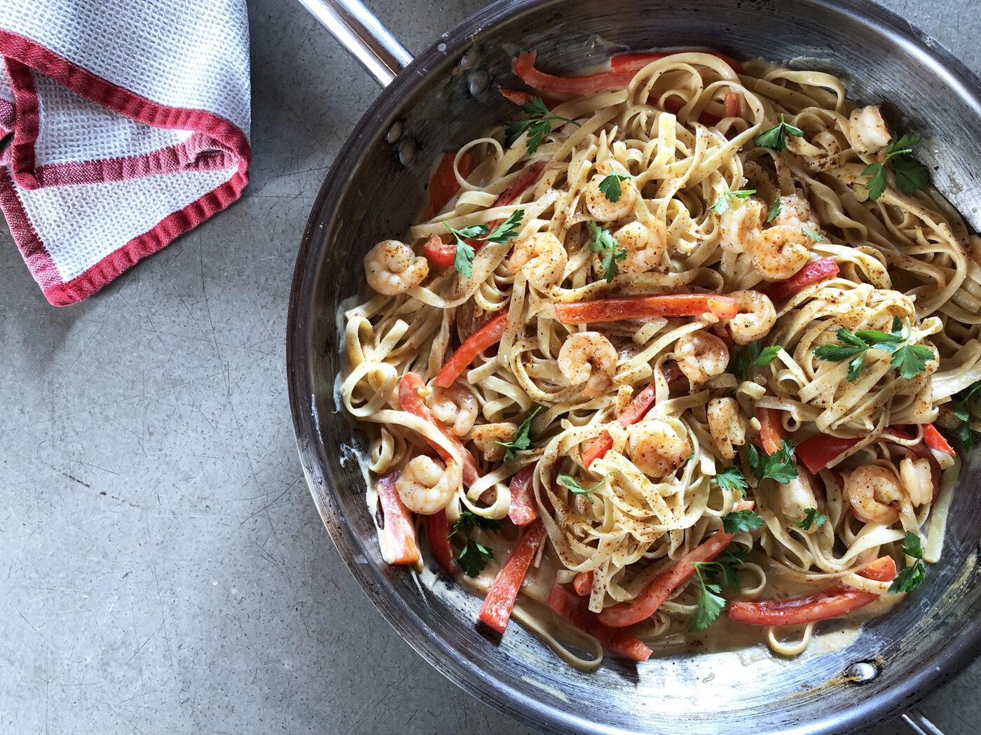 Creamy Cajun Shrimp Pasta recipe | Didn't I Just Feed You podcast