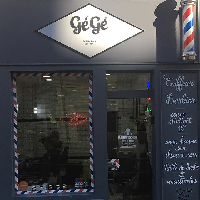 We love finding cool barbershops all across the world. Here is an awesome find in downtown Paris. We enjoyed showing them Klipped and hearing about their needs for Parisian clients!  #klipped #haircutapp #barbershop #haircut #style #hairstyles #salon