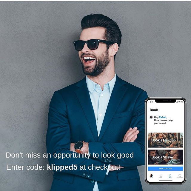 We still have a few coupons left! Download the app and use our promo code at checkout.  #klipped #santabarbara #haircutapp #barbershop #salon #hairstyles #hairstylist