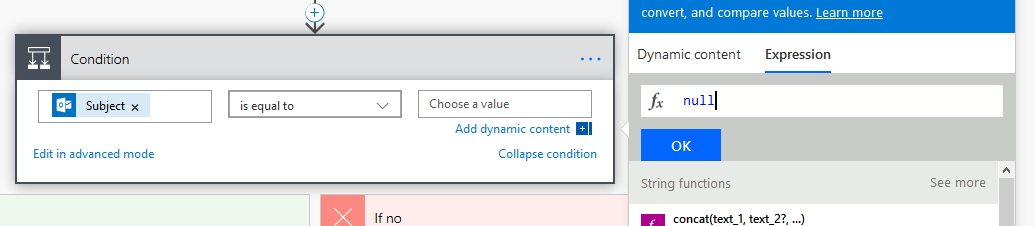 """Start typing """"null"""" and it'll show you the predefined value."""