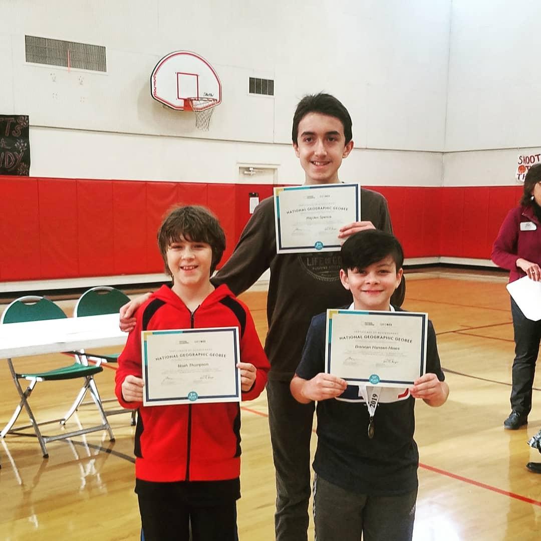 Left: Noah T.; Center: Hayden S.; Right: Brennan H.
