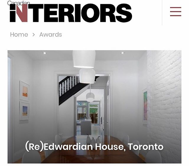 We are honoured to receive a winning title for the 2019 Best Of Canada Award by Canadian Interiors for the Edwardian House! Visit our website to see more photos of this project- we had a blast working on it!