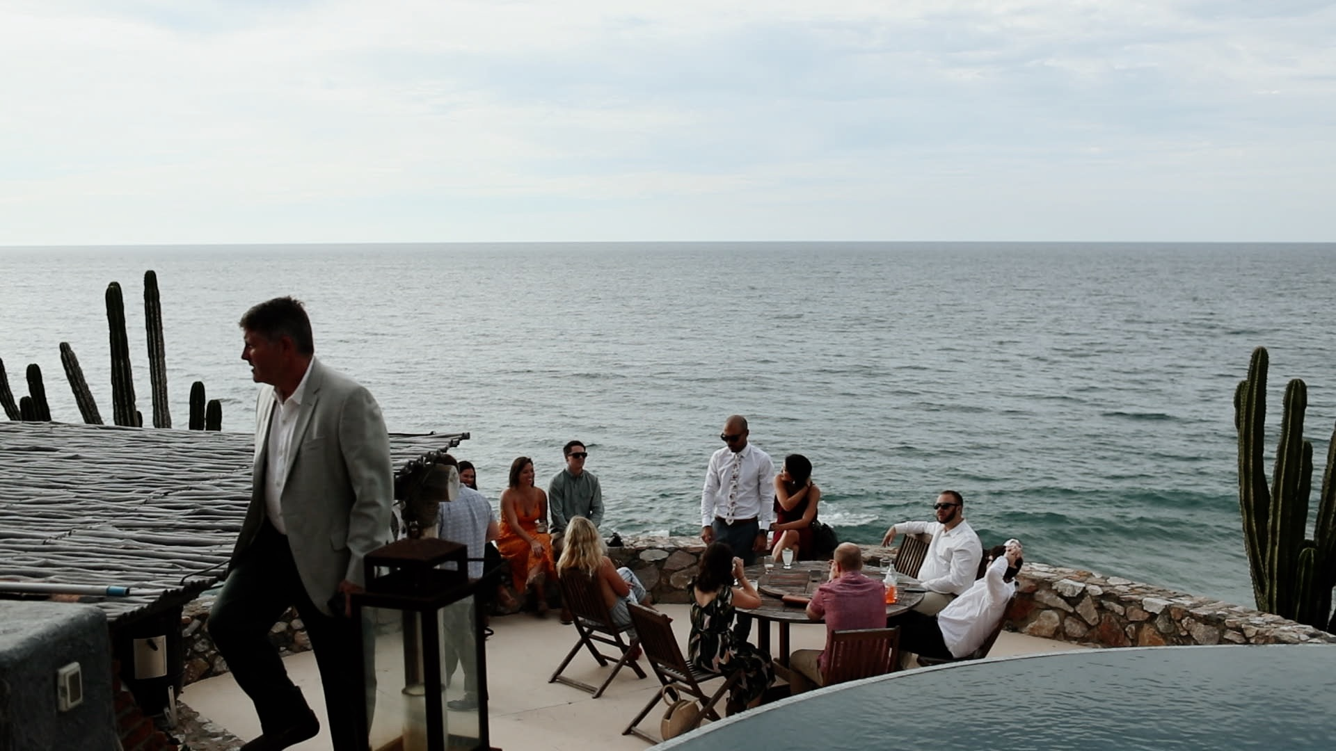 Infinity Pool Overlooking Ocean Views at Teitiare Estate Sayulita Mexico Wedding