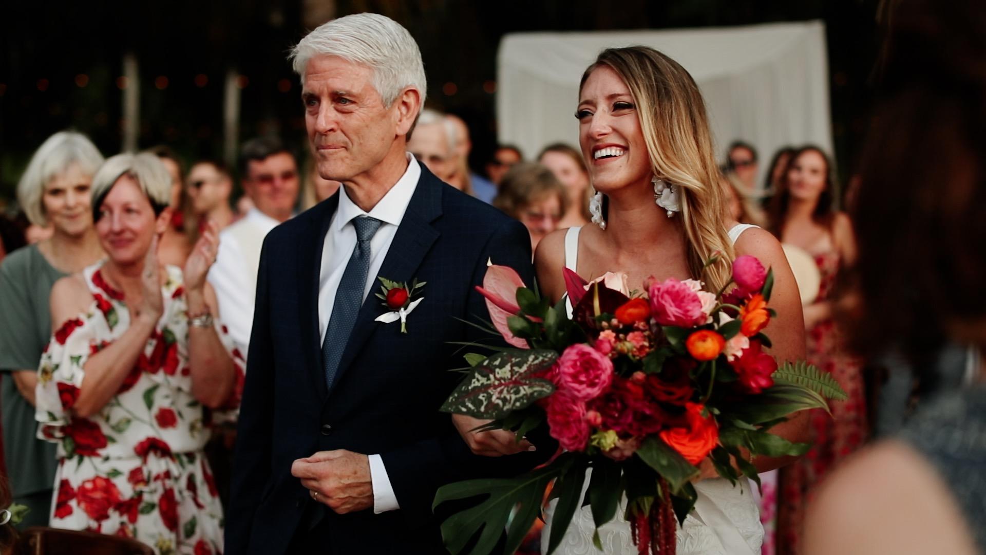 Bridal Entrance Beach Ceremony Teitiare Estate Sayulita Wedding