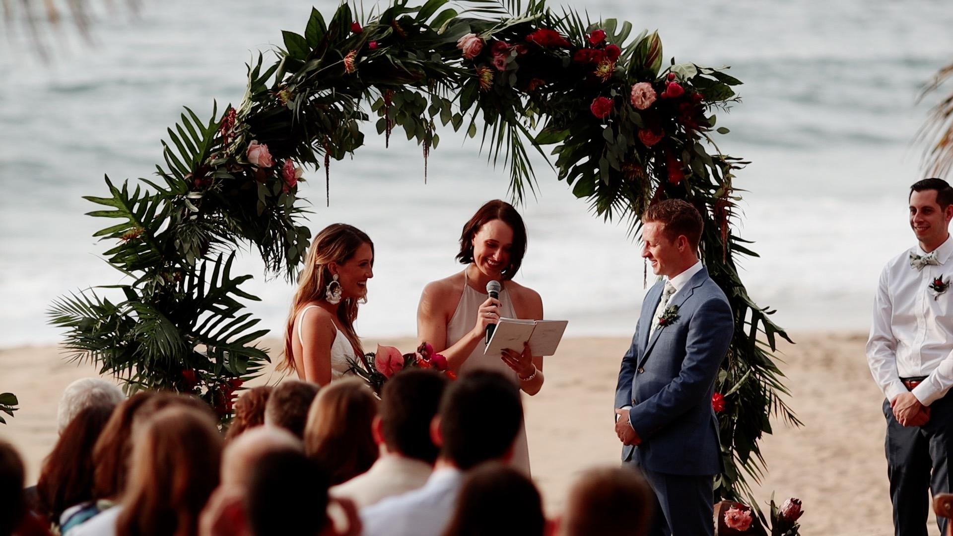 Beach Ceremony Teitiare Estate Sayulita Mexico Wedding