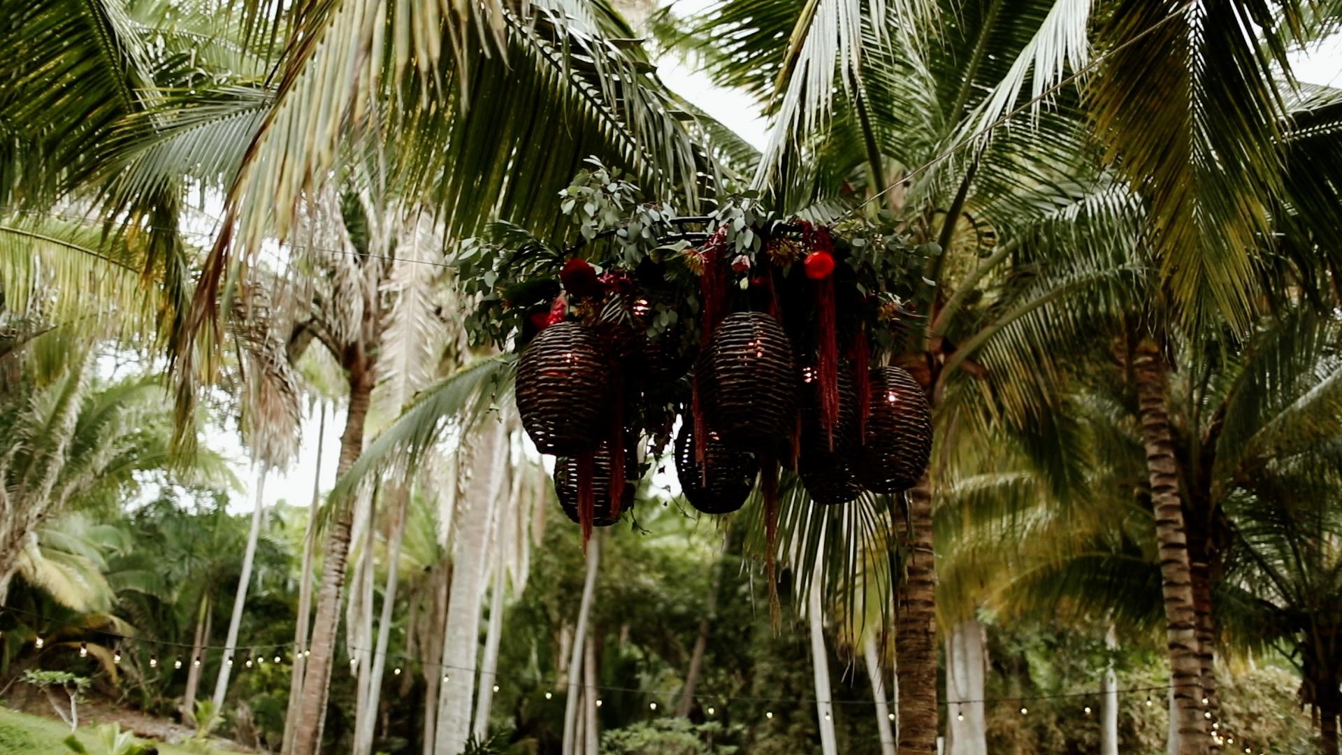Boho Reception Details Sayulita Mexico Wedding Teitiare Estate