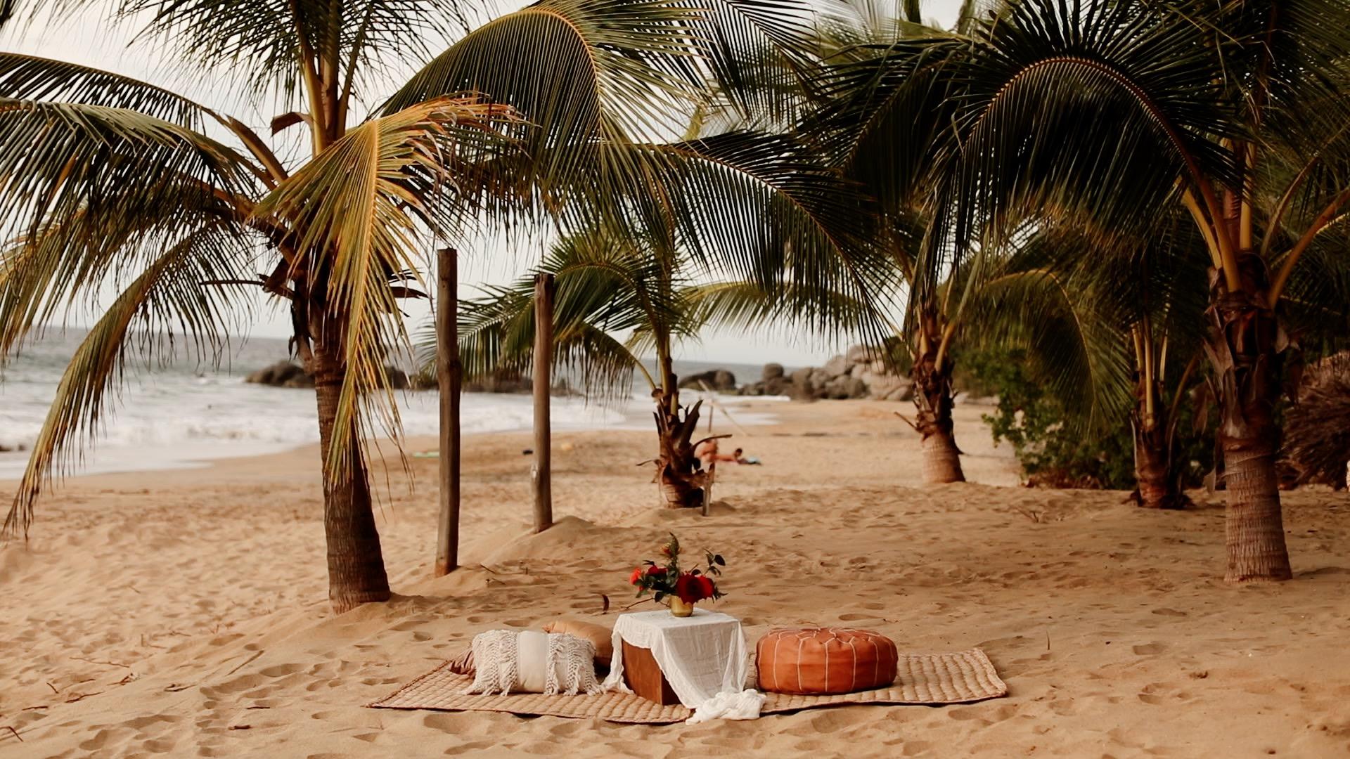 Boho Reception Details Teitiare Estate Sayulita Mexico Wedding