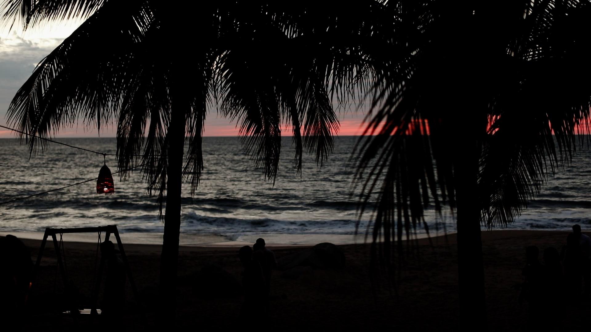 Sun Setting Over Ocean Teitiare Estate Sayulita Mexico Wedding