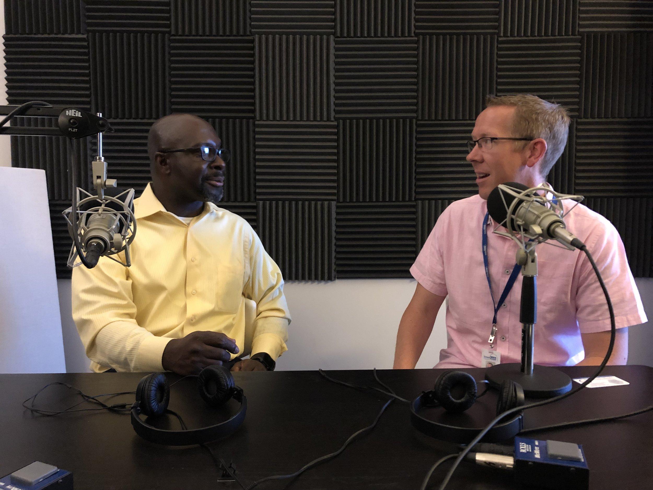 Marlon and Greg in the studio