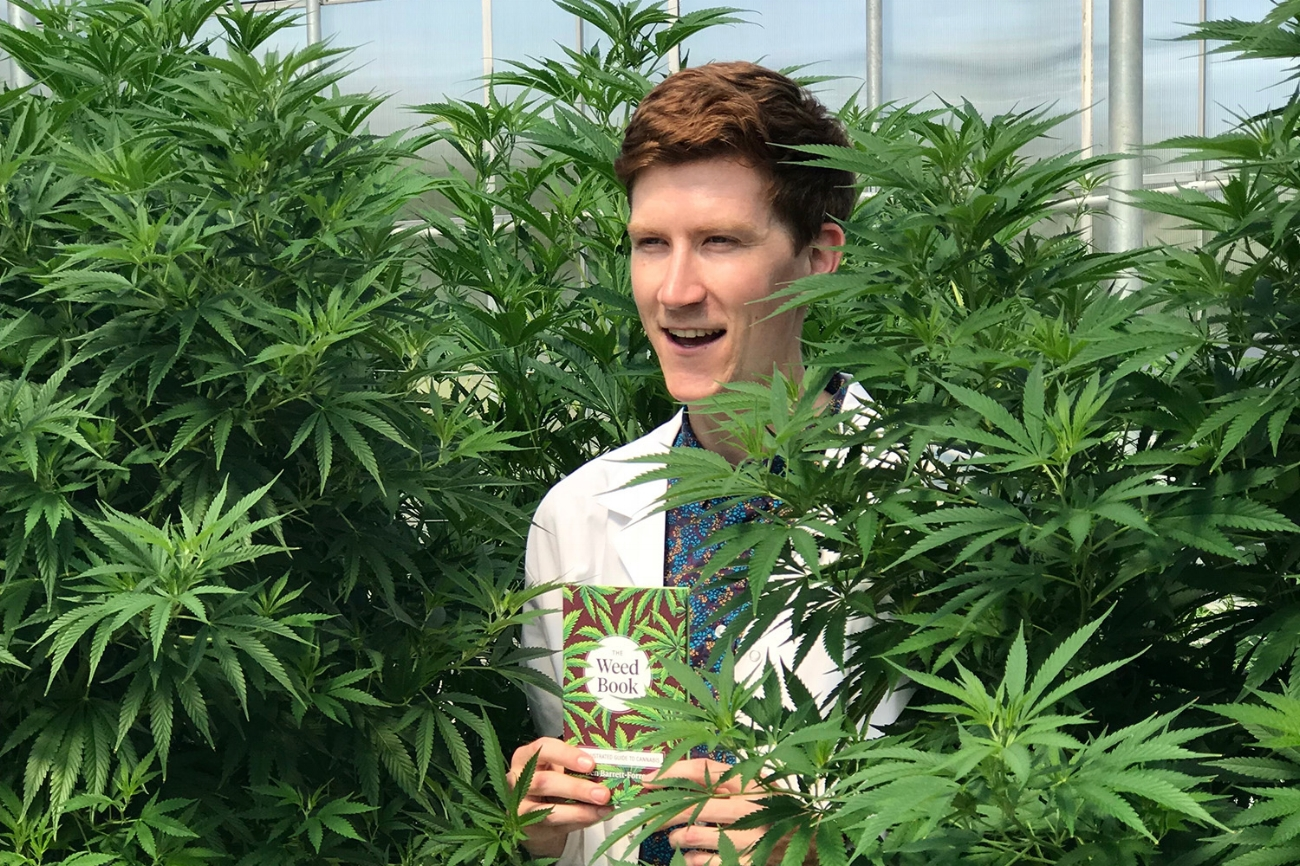Weed Deck creator Ben Barrett-Forrest in the Tantalus Labs greenhouse, in Maple Ridge, British Columbia. It's a state of the art facility that harnesses sunlight to grow ultra high-quality herb.
