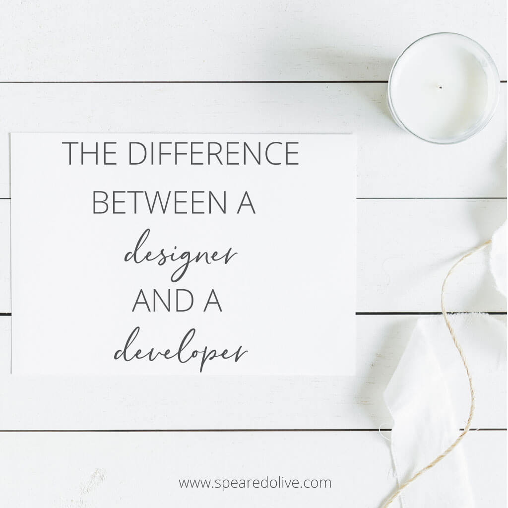the difference between a designer and developer