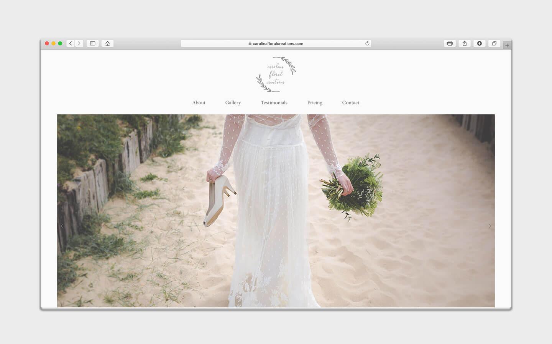 carolina floral creations-web design-portfolio