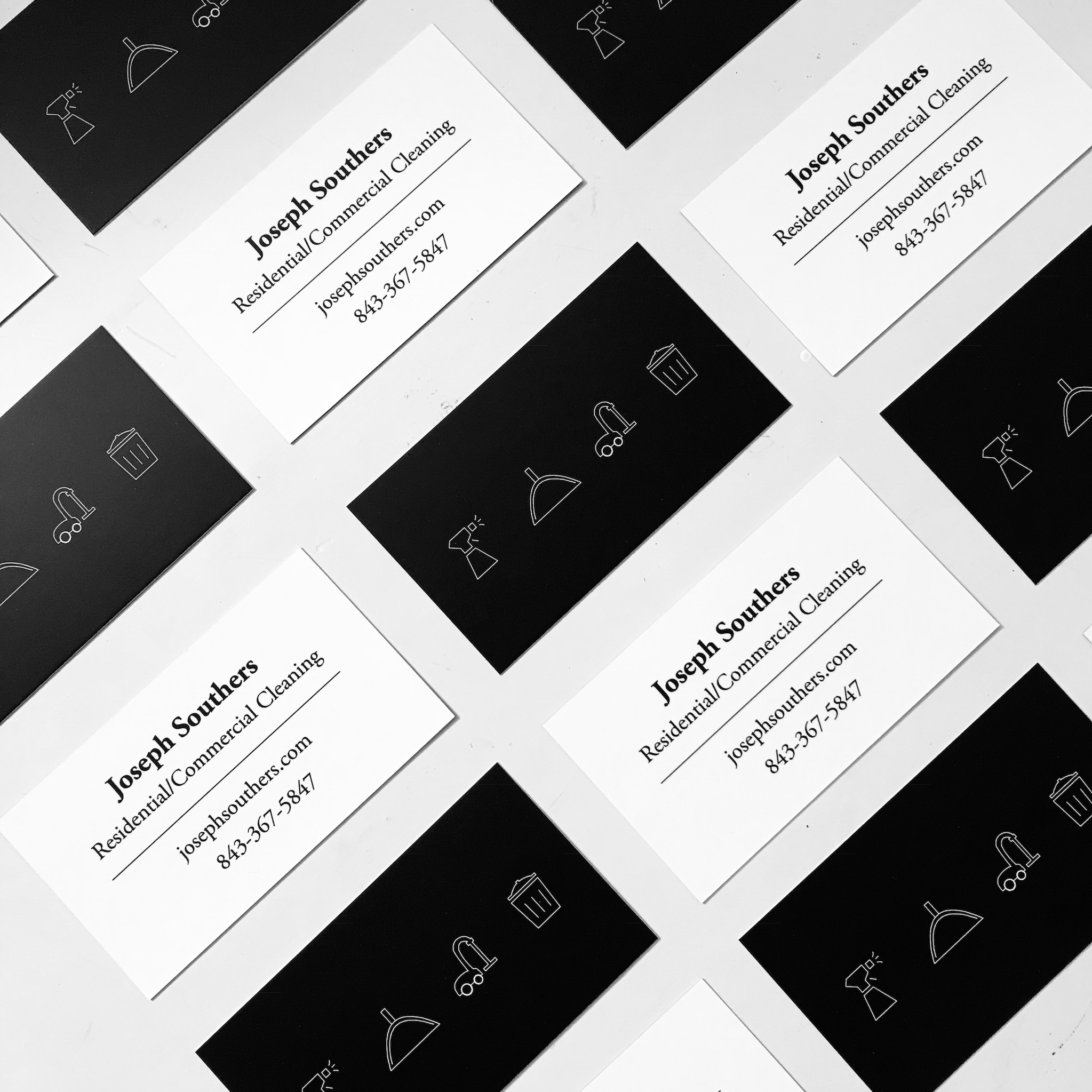 joseph southers cleaning-business cards-portfolio