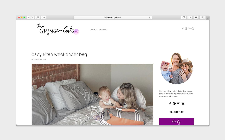 the gregersen gals-web design-portfolio