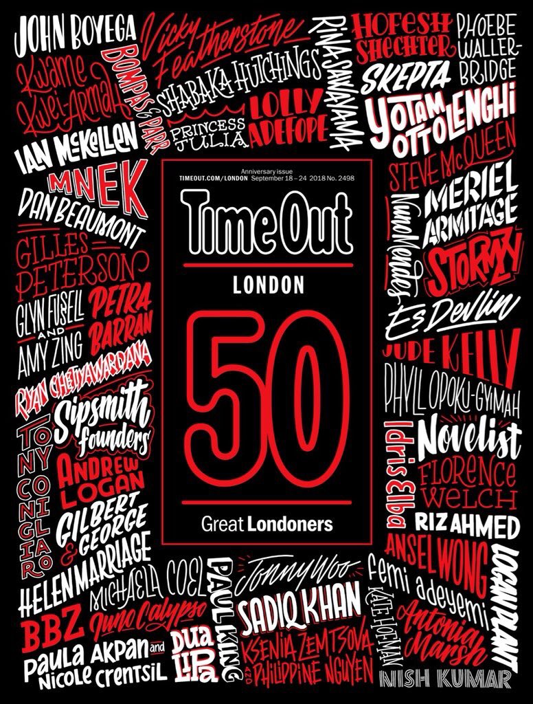 TimeOut 50 great Londoners - TimeOut listed us as one of 50 great Londoners shaping our city's cultural landscape.