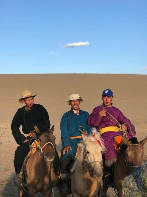 Chloé PR Director Thierry Conrad selects horse riding in the Mongolian Gobi desert