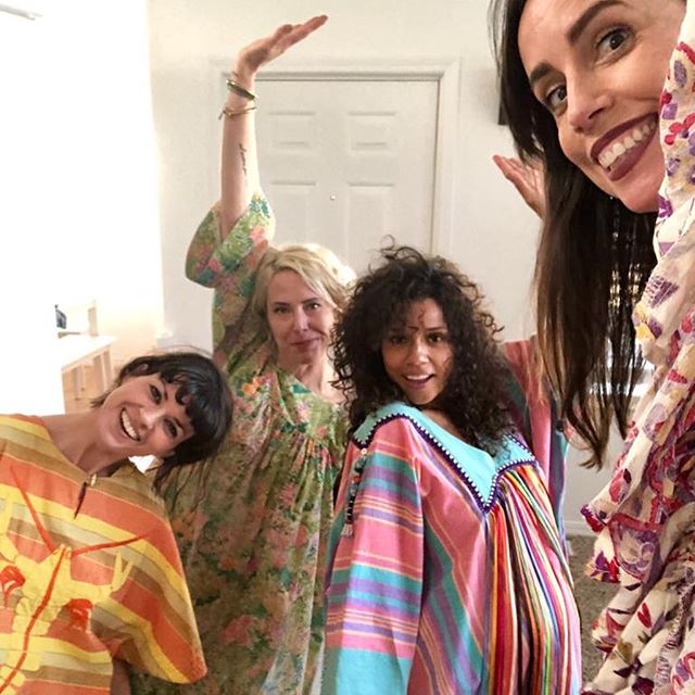 There is something very special and sacred about having a group of women who will always support, celebrate and cherish you! And also obey the strict caftan only dress code. Thank you to @anjalisr @hotpatooties @mel.lubey @mitchgil for blessing my little girl safe passage into this world. Also to my wonder mum and sisters who sent gorgeous messages of support. You are always with me in spirit! My sisterhood is strong and fierce! This is women supporting women at its finest⚡️🙏🏽⚡️ . . . . #warriorwomen #womansupportingwomen #mumssupportingmums #momssupportingmoms #sisterhood #iamshe #agirlcalledshe #femaleempowerment #36weekspregnant