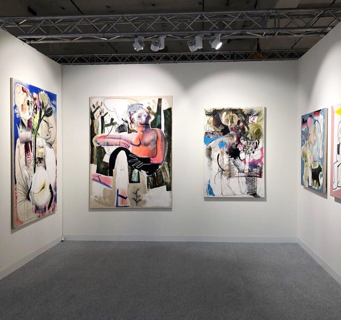 Joy Kim solo booth at Volta Basel in Basel, Switzerland. Showing with gallery Space 776