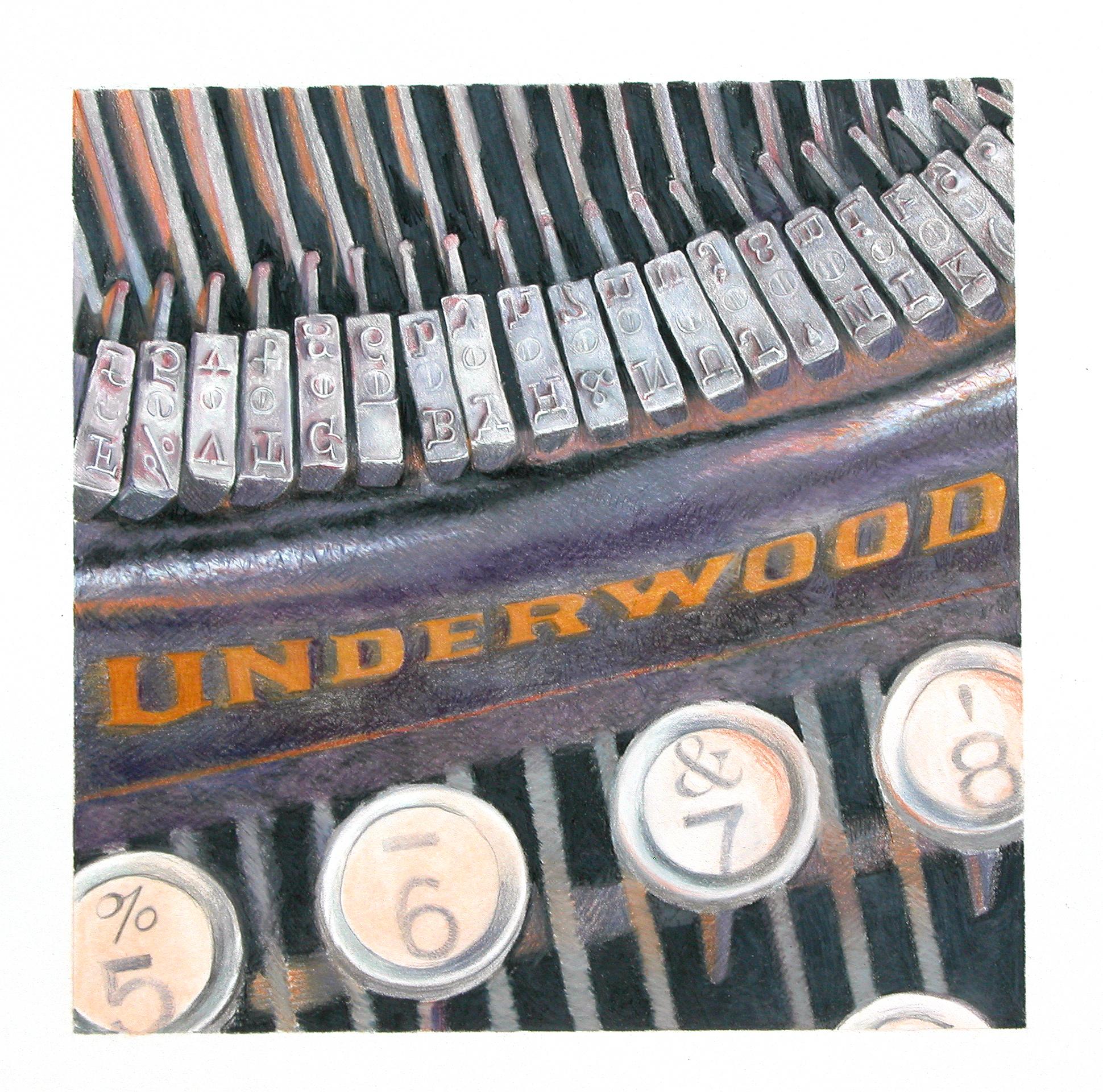 "underwood no.5   14""x14""  (sold)"