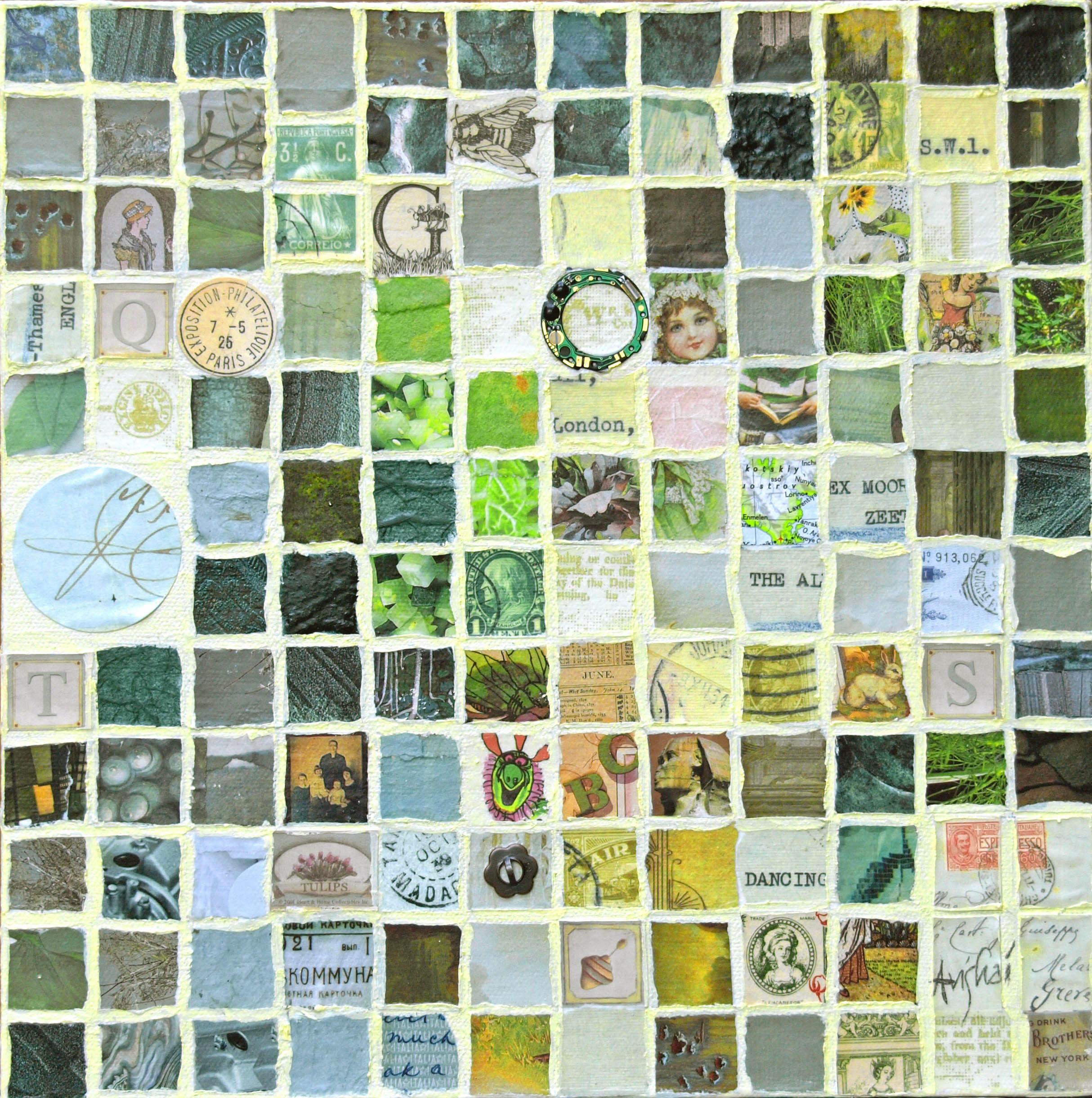 """grid (green)  12""""x12""""  (sold)"""