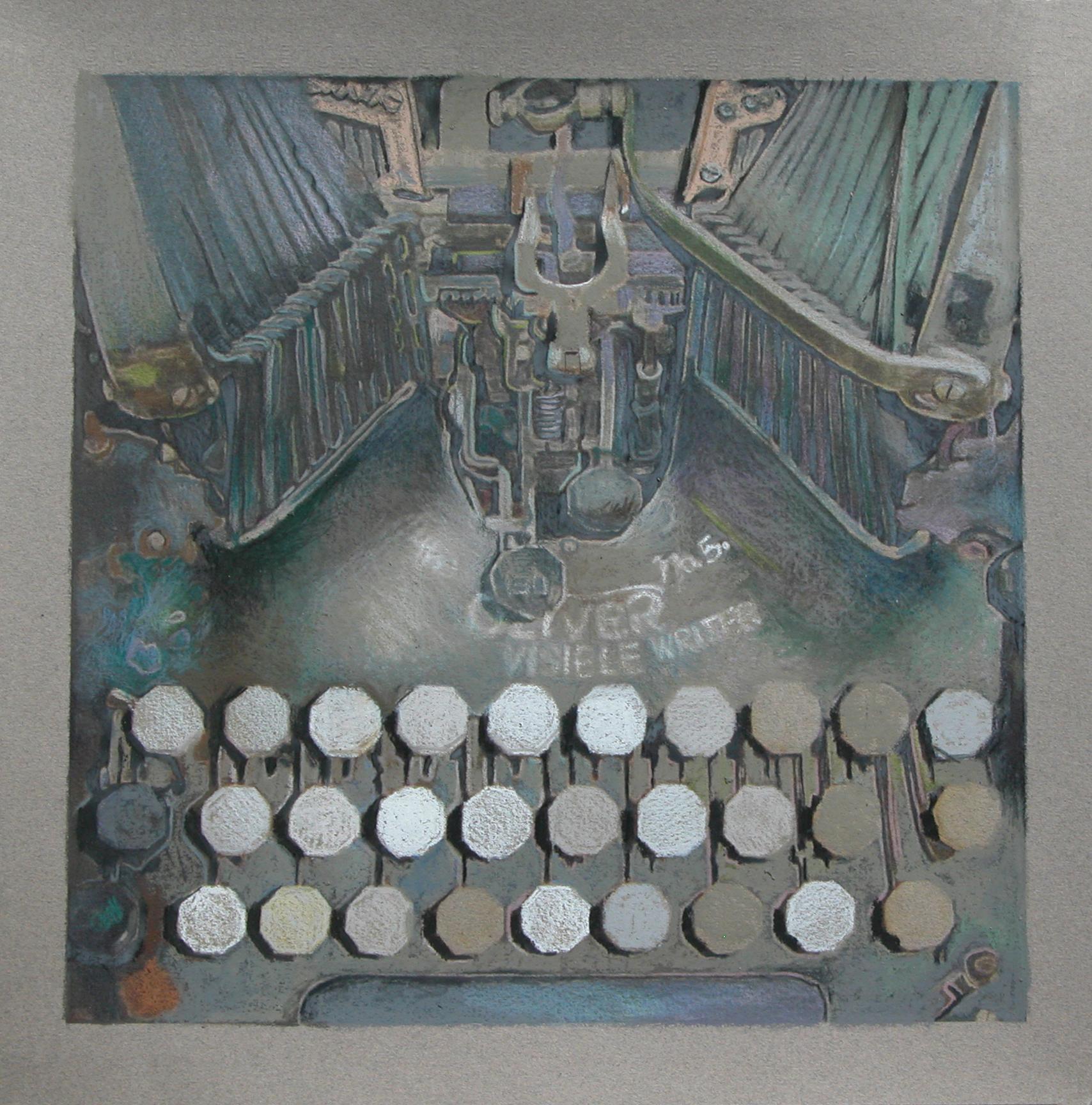 "metal poetry  13""x13""  (sold)"