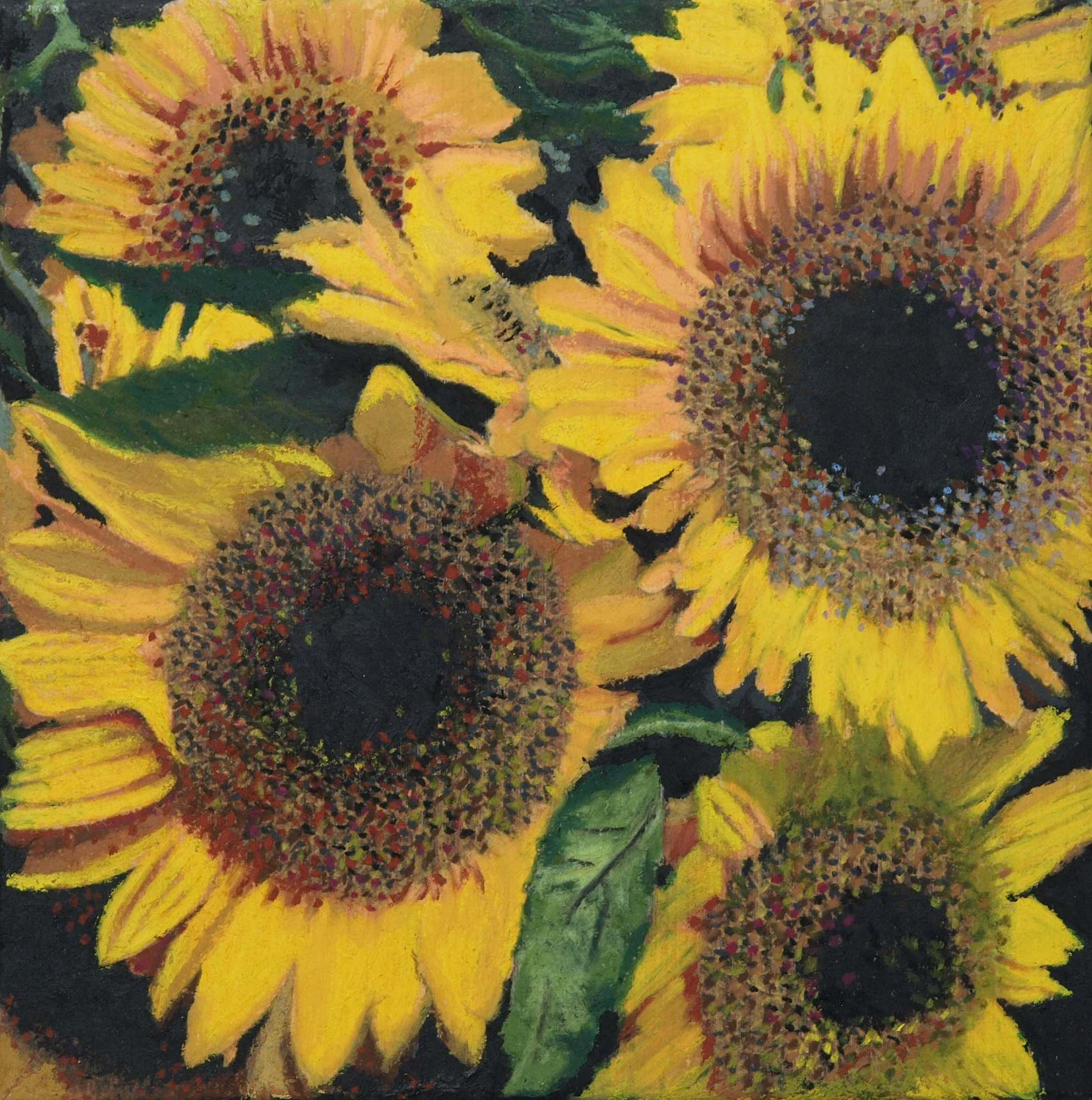 "sunflowers  12""x12""  (sold)"