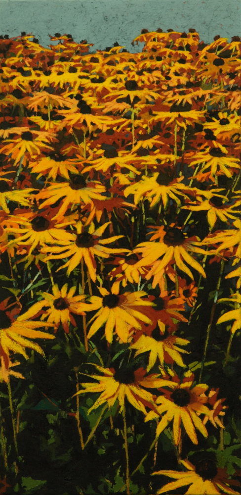 "black-eyed susans 24""x12"" (sold)"
