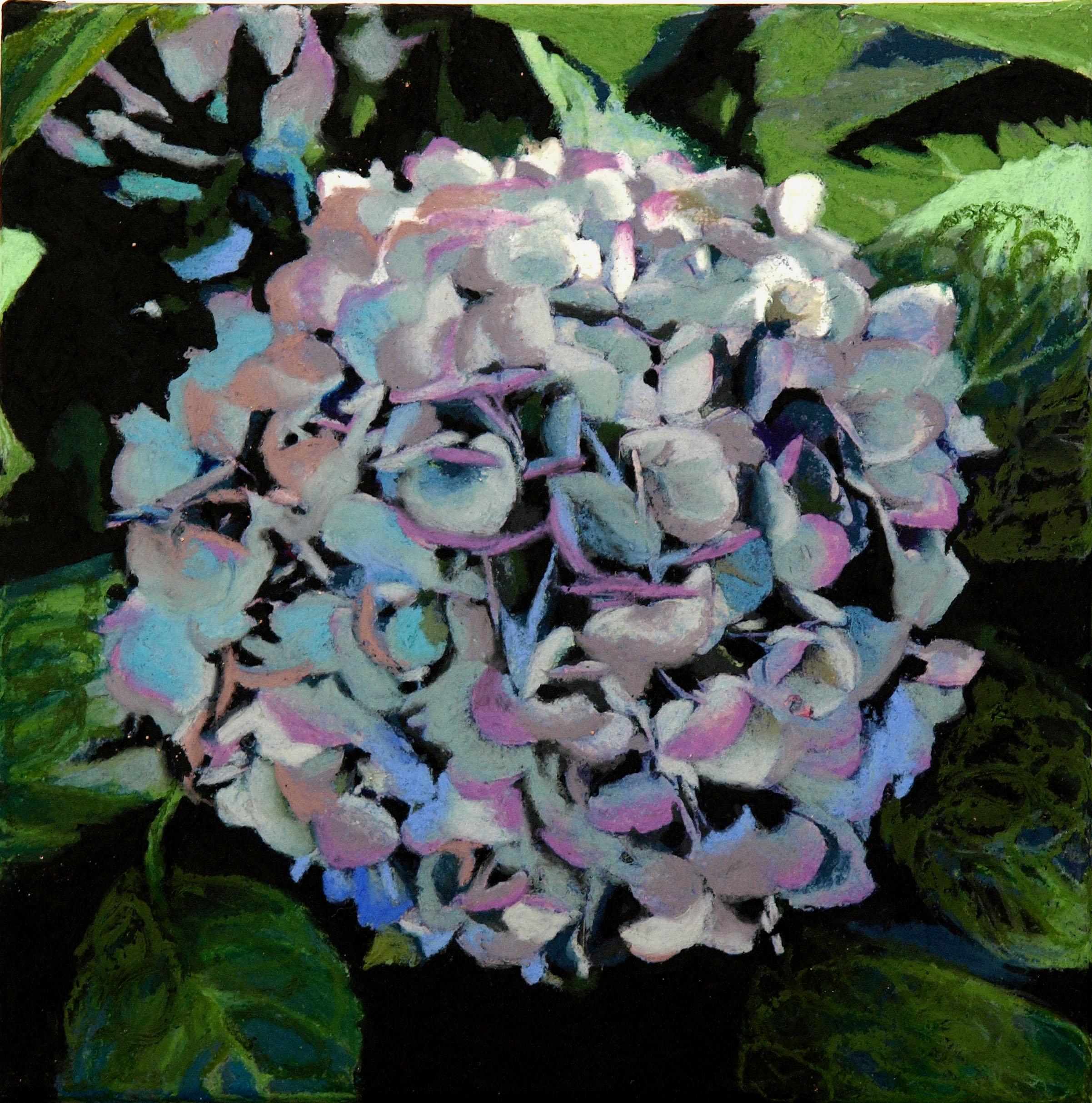 "hydrangea (blue)  12""x12"" (sold)"